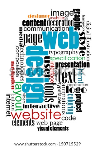 Tag cloud for web and internet content design. EPS 8 vector illustration. Bitmap (jpeg) version also available in gallery - stock vector
