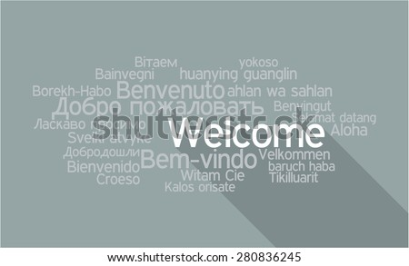Tag Cloud Welcome  in vector format. - stock vector