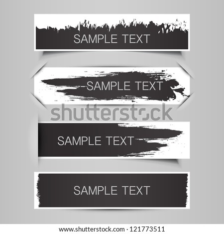 Tag, Label, Banner Designs - stock vector
