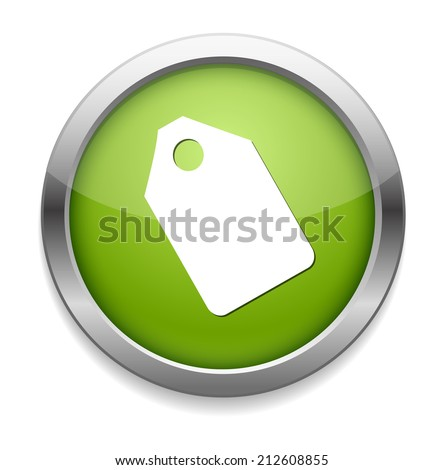 Tag label button - stock vector