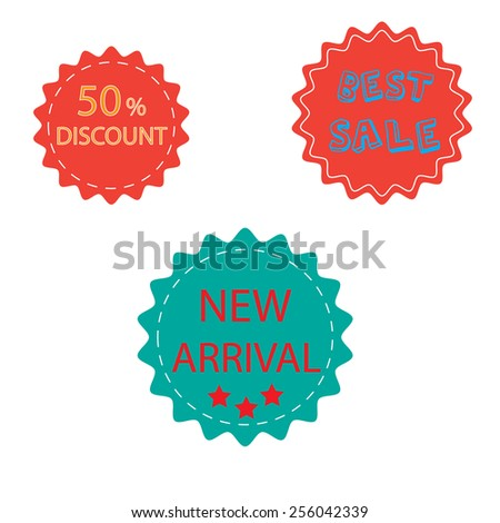 tag market - stock vector