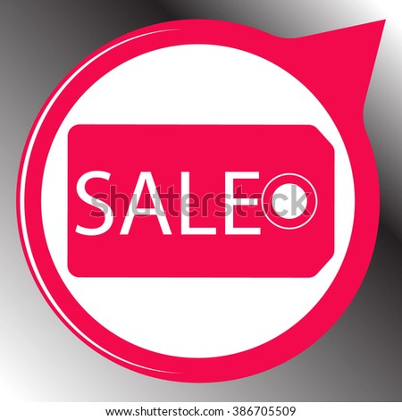 Tag of sale icon. Simple black vector symbol. Logo for web. Image for business. - stock vector