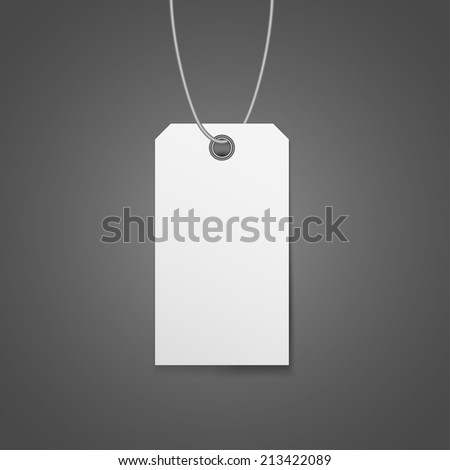 tag price - stock vector