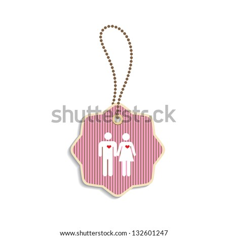 Tag Soul Mate Symbol On White Stock Vector 132601247 Shutterstock