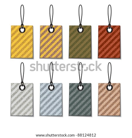 Tags - stock vector