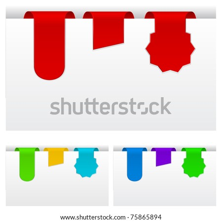 tags collection - stock vector