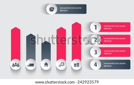Tags for business design, infographics, reports, presentation, websites, vector illustration, eps10, easy to edit - stock vector