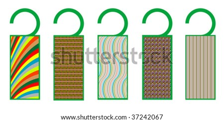 tags with texture, vector art illustration, more tags in my gallery