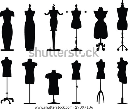 Tailor dolls vector collection - stock vector