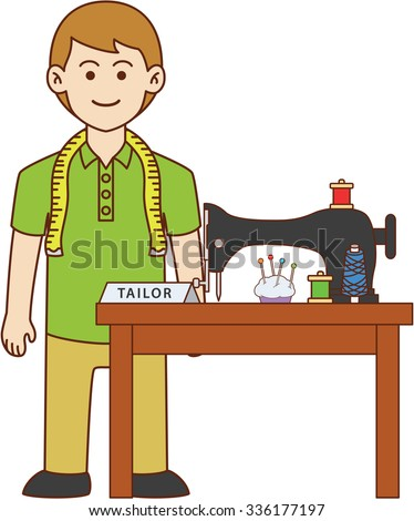 Tailor Doodle Cartoon Design Illustration Stock Vector 336177197 Shutterstock