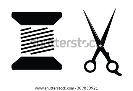Tailor : Sewing label badge - stock vector