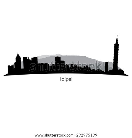 Taipei vector Skyline - stock vector