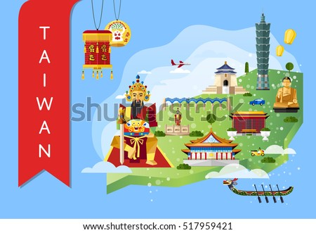 Worldwide Travel Flyers Famous Architectural Landmarks Stock - Us map with famous landmarks