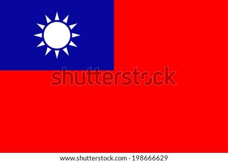 Taiwan vector flag isolated. - stock vector