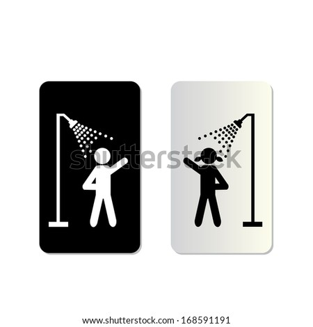 take a bath symbol tag on white background  - stock vector