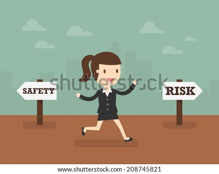 Take A Risk - stock vector