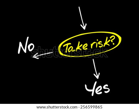 Take the RISK or not decide diagram business concept - stock vector