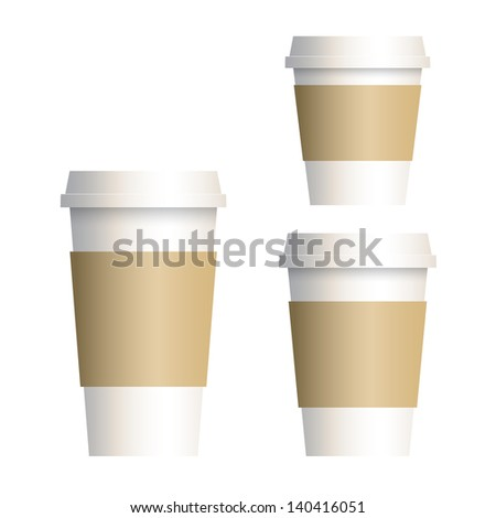 Takeaway coffee cup isolated on white - stock vector