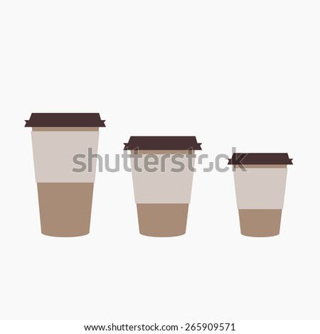 Takeaway coffee cup templates. Vector EPS 10. - stock vector