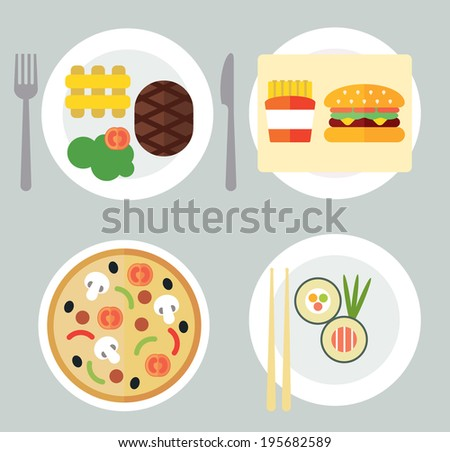 Takeaway Set I - stock vector
