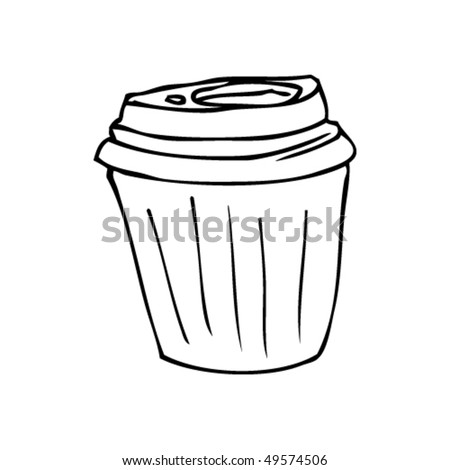 Coffee Mugs Drawing Takeout Coffee Cup Drawing