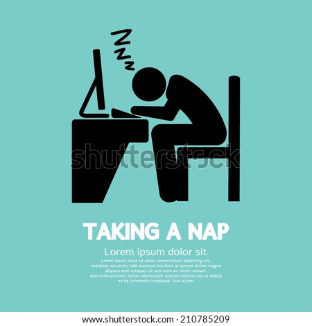 Taking a Nap Graphic Symbol Vector Illustration - stock vector