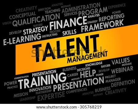 Talent Management word cloud, business concept - stock vector