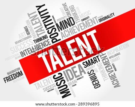 Talent word cloud, business concept - stock vector
