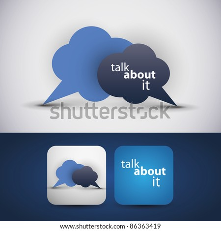 Talk about it - flyer or cover design - stock vector