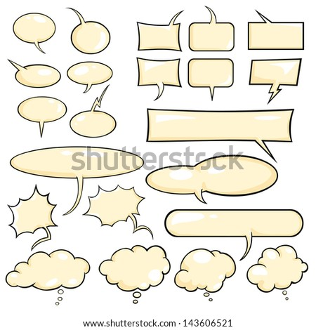 Talk and think vector color bubbles - stock vector