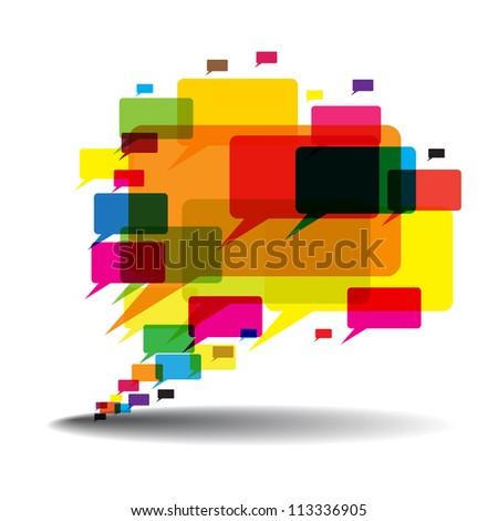 Talk Balloon  Abstract Background - stock vector