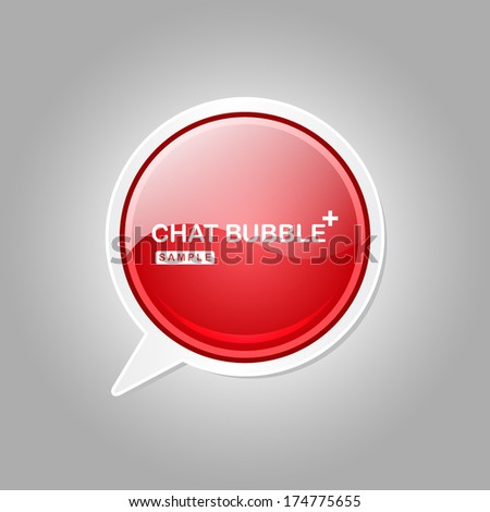 Talk Balloon Glossy Button Icon