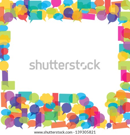 Talk bubbles - stock vector