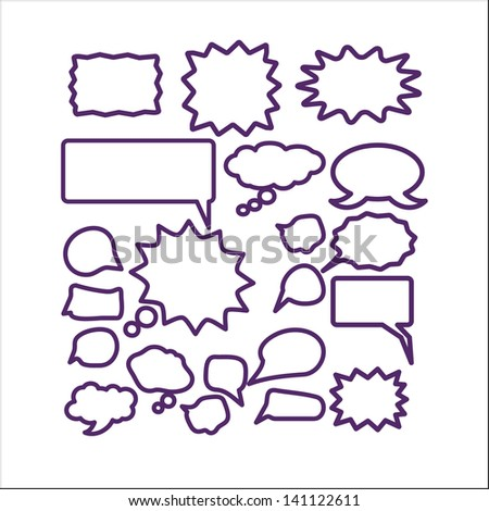 talk, chat, speech, ideas icons, signs set, vector - stock vector