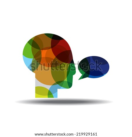 Talk Colorful Vector Icon Design