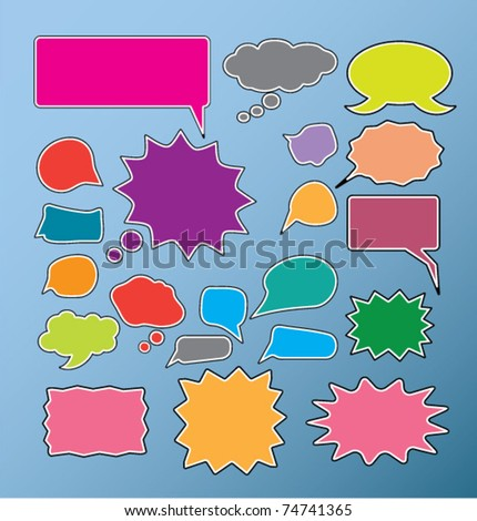 talk, speak, chat, thoughts signs, vector - stock vector