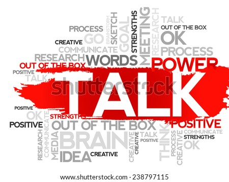 TALK. Word business collage, vector background - stock vector