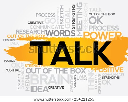 TALK word cloud, business concept - stock vector