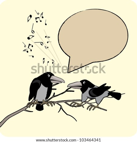 talking cartoon crows