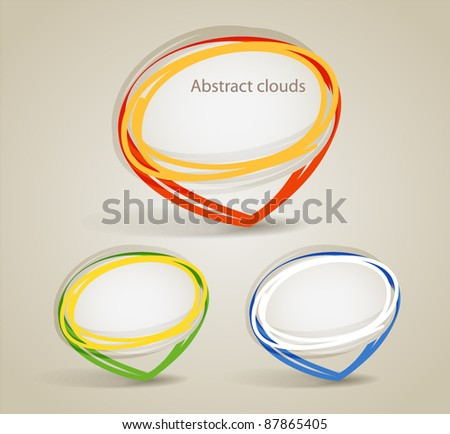 Talking vector hand-made bubbles group - stock vector