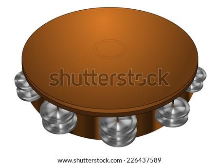 tambourine - stock vector