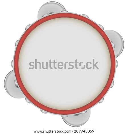 Tambourine - a musical instrument of the drums class. Vector illustration. - stock vector