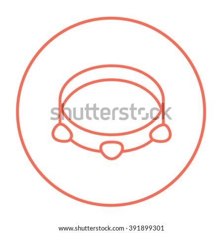 Tambourine line icon. - stock vector