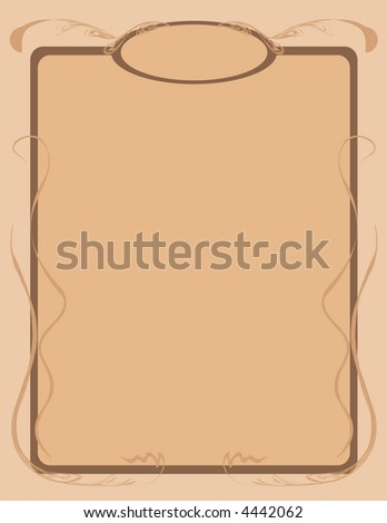 Tan Stationery - stock vector