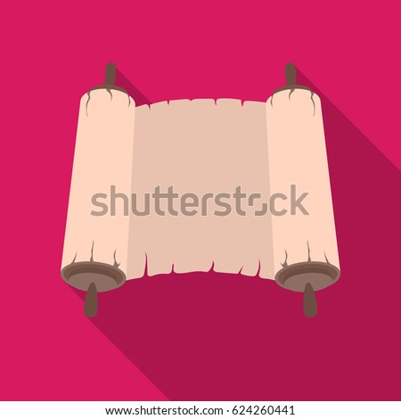 Tanakh icon in flat style isolated on pink background. Religion symbol stock vector illustration.