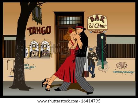 tango - stock vector