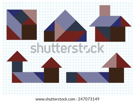 Tangram puzzle house