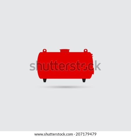 Tank for the storage of flammable materials icon - Vector - stock vector