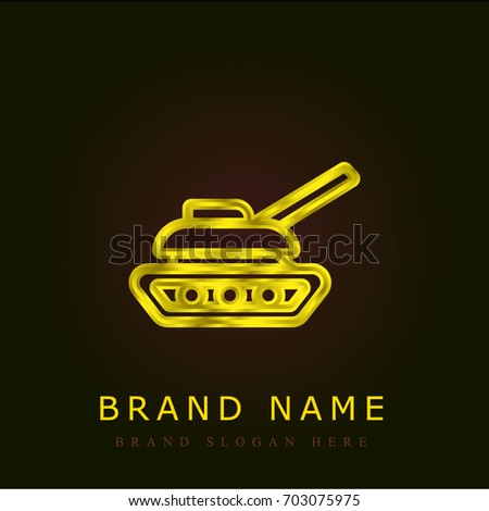 Tank golden metallic logo