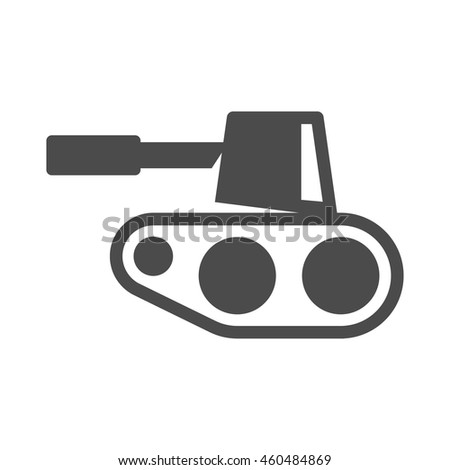 Tank icons in single color. Mmilitary weapon war. - stock vector